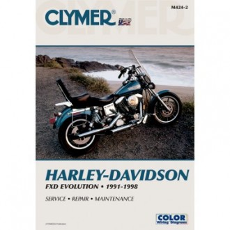 Clymer Motorcycle Repair Manual for FXD Evolution